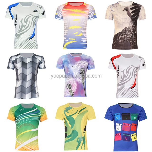 aa03323c3 High quality custom made full printing 100% Polyester blank sublimation  sport t shirt