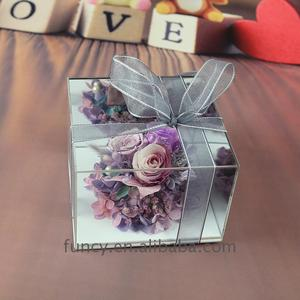 Acrylic Box Preserved Flowers Best Personalized Handmade Birthday Gifts for Wife