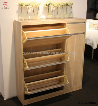 closed shoe rack Modern Wooden Shoe Cabinet, Closed Shoe Rack for Living Room, View  closed shoe rack
