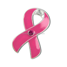Atacado breast <span class=keywords><strong>cancer</strong></span> <span class=keywords><strong>awareness</strong></span> Pink Ribbon red lapela pin
