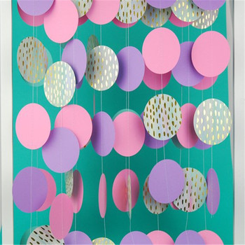 Mermaid Garland Bubbles Unicorn Polka Paper Birthday Decorations Gold Foil Wall Hanging Lilac Mint Baby