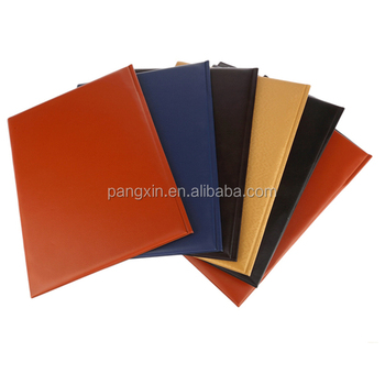 2015 High Quality Low Price Colorful Handmade A4 Leather Certificate Folder, Matric Certificate