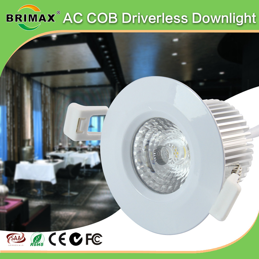 High quality indoor downlight 6w cob led downlight low height bathroom waterproof recessed led ceiling light