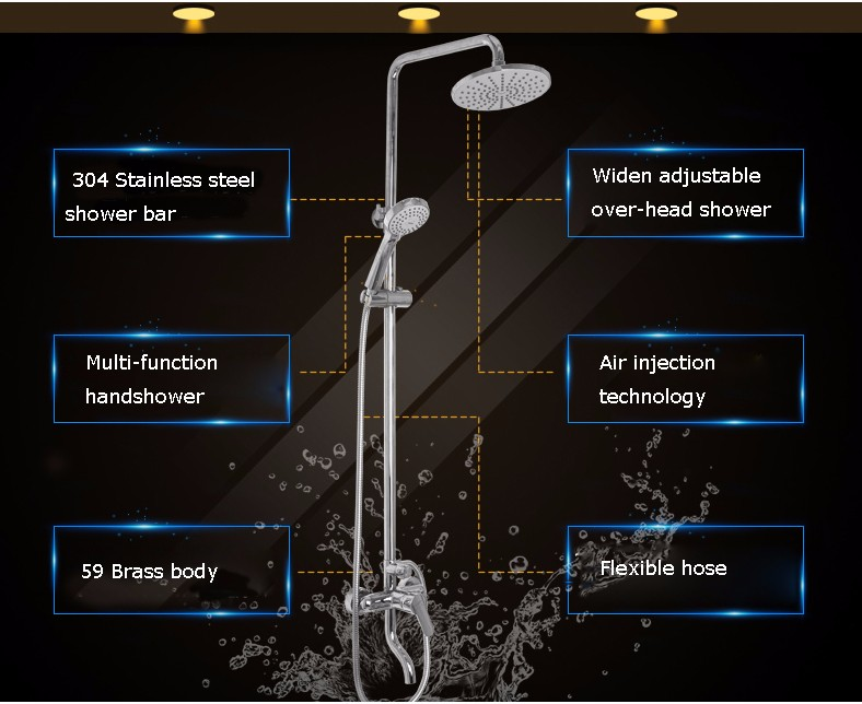 2016 new rainfall shower set spray bath tub set sanitary copper faucet ware