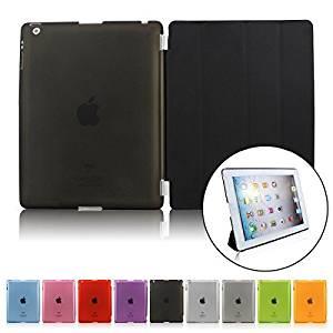 iPad 2/3/4 Case, SymbolLife Ultra Thin Smart Cover with Auto Sleep/Wake Function for Apple iPad 2 / iPad 3 / iPad 4 + Screen Protector + Cleaning Cloth + Stylus Black