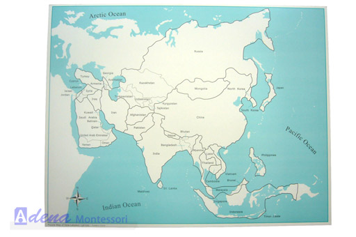 Montessori Equipment  Asia Control Map (labeled),Map,Educational  Material,Educational Toy   Buy Control Map,Educational Material,Educational  Toy Product On ...