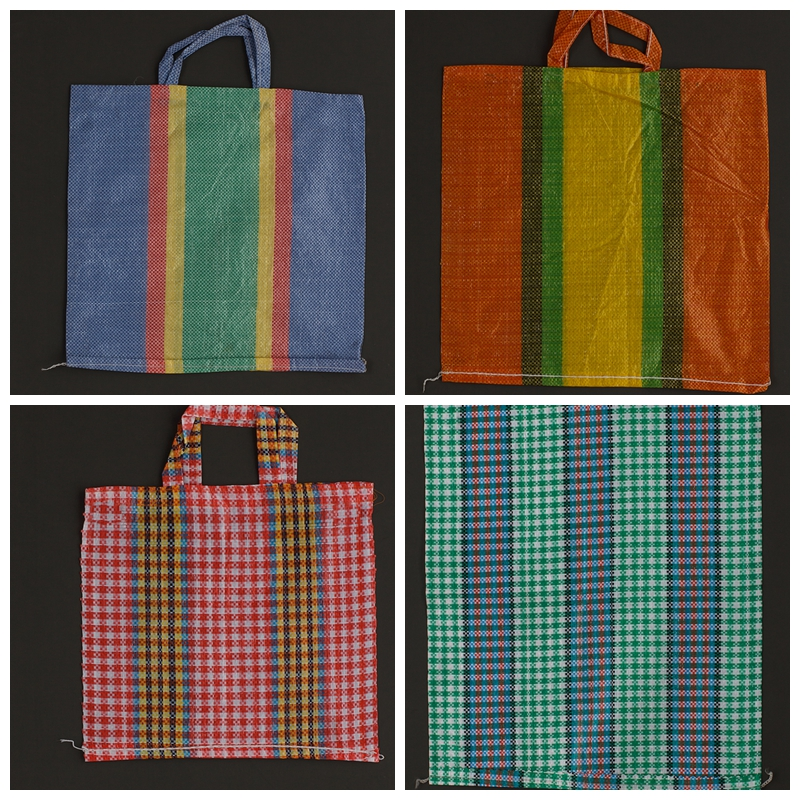 Cheap price laminated colorful stripes PP woven shopping bag