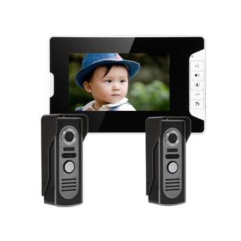"7"" Video Door Phone Intercom Doorbell Home Security Ir Camera Monitor"