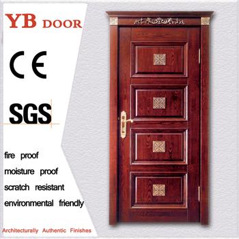 Latest Design Wooden Doors Eco Friendly Oem Cherry Exterior Solid