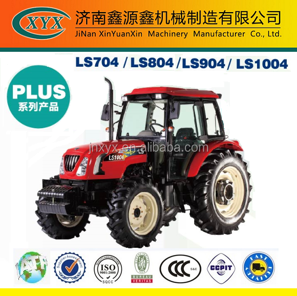 Korea LS 704 804 904 1004 100HP 4WD wheel-style farm tractor for hot sale
