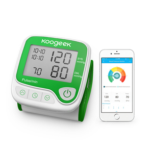 Koogeek Smart Home Digital Bluetooth Wrist Blood Pressure Monitor with Heart Rate Detection with App Control for Apple Andriod