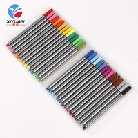 Wholesale professional hexagon needle tip silver pens cover fine point sketch fineliner pen