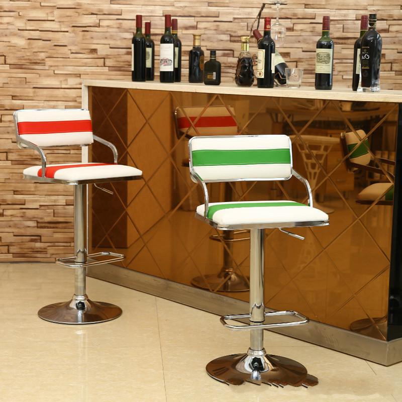 High Foot Barstool European Style Bar Chair Beauty Barber