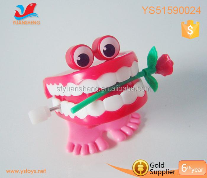 Oral Hygiene Beauty & Health Toys Wholesale Creative Dental Gift Wholesale Spring Plastic Toys Jump Teeth Chain For Children Dental Toys