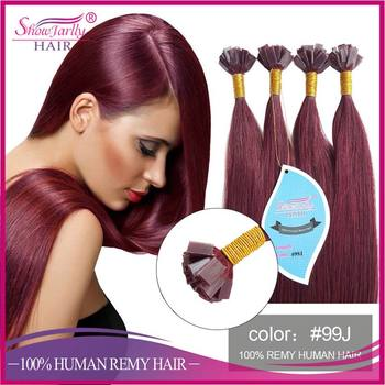 Keratin hair extension russian human hair red plum wine color keratin hair extension russian human hair red plum wine color fusion prebonded flat tip hair extensions pmusecretfo Image collections