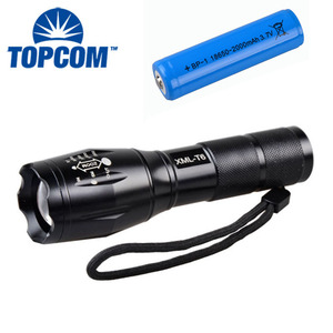 Waterproof Camping Flashlight LED Torch XML-T6 Zoomable AAA /18650 Rechargeable Battery Tactical Led Flashlight