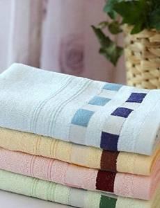 Bamboo Fiber Bath Towel 3pcs / Set Blue / Green / Pink / Yellow , Embroidery , light blue