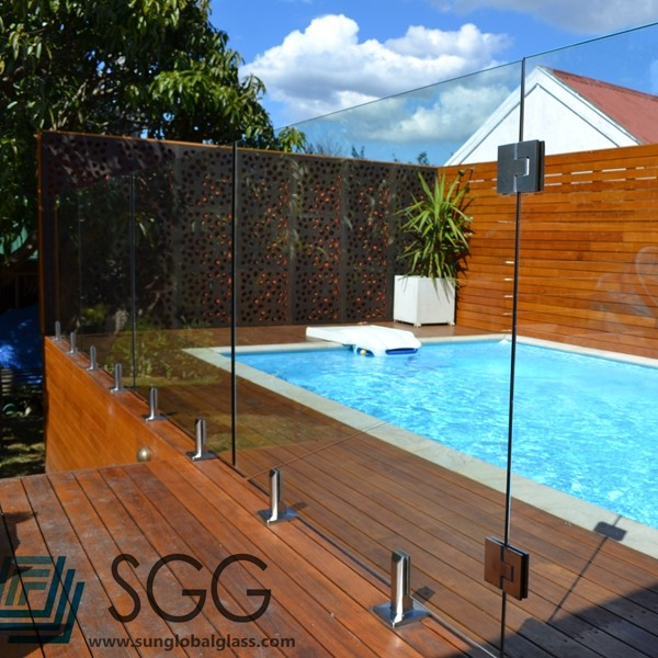 Top quality commercial building material tempered glass for Quality pool design