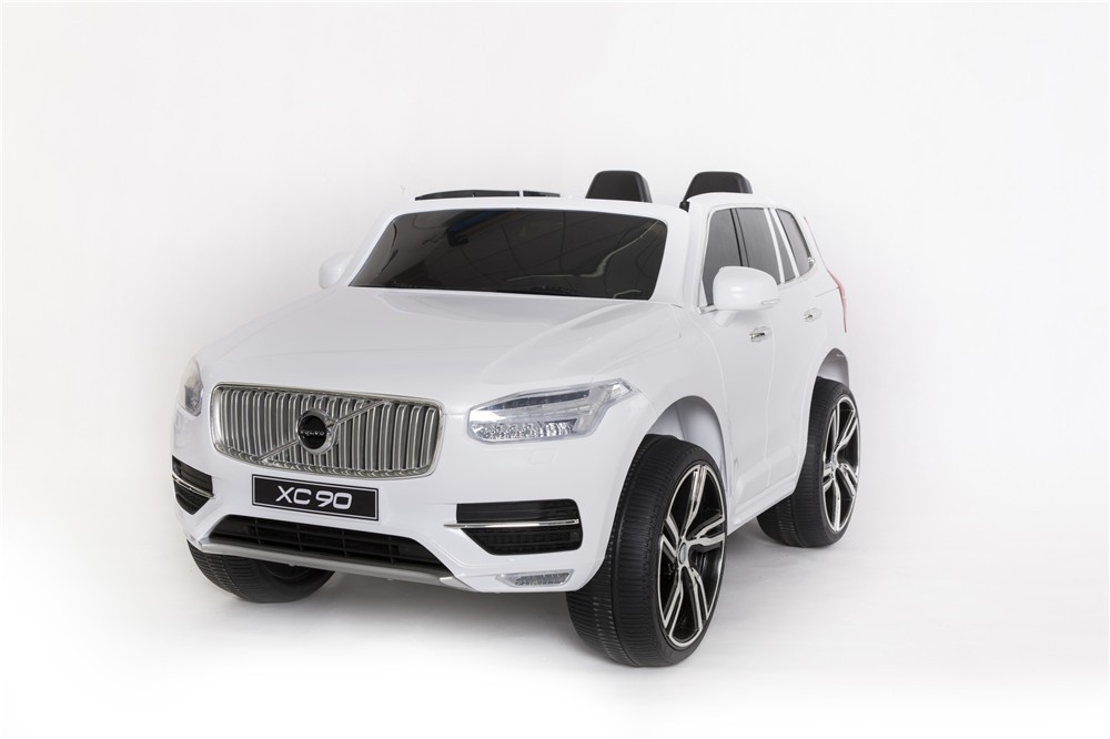 volvo license xc90 electric ride on cars for kids rc with carry handle leather seat