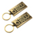 High quality metal surfboard bottle opener keychain
