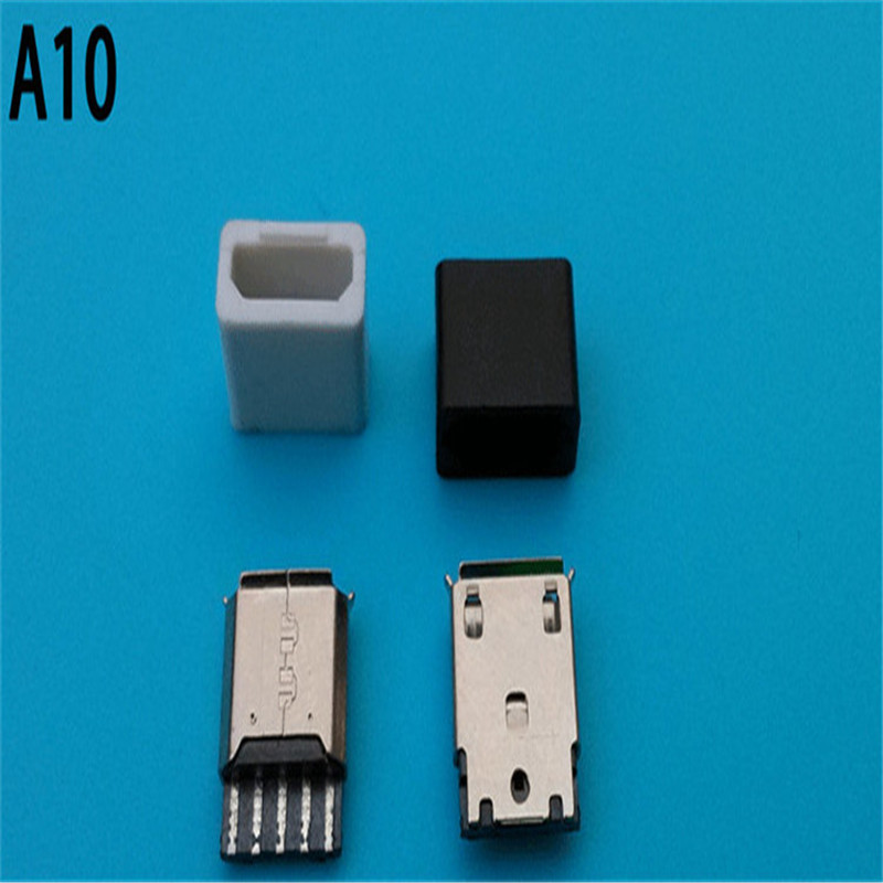 Free sample 2.0 micro usb connector b type 5p vertical surface mount smt