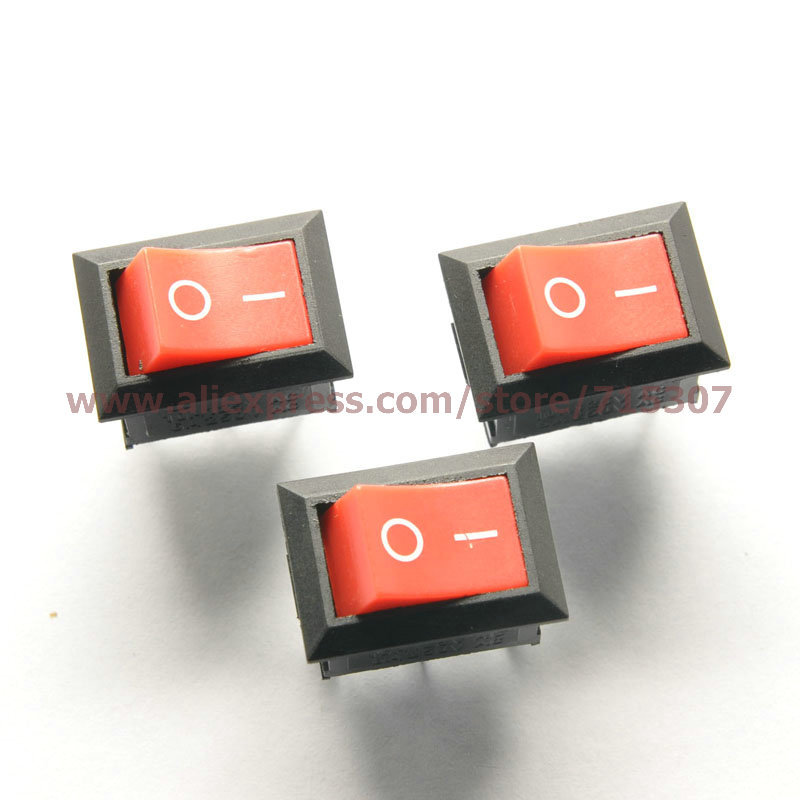 Aexit 20pcs Round Switches Button 2 Pin SPST On//Off Rocker Switch AC Foot Switches 125V//10A 250V//6A