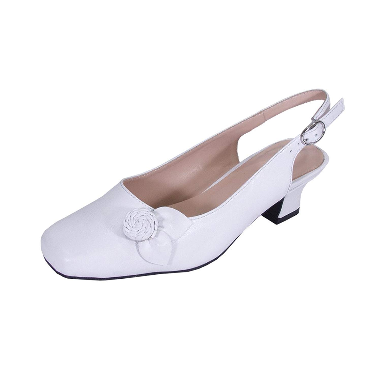 Get Quotations · Peerage Cheryl Women Wide Width Slingback Comfort Dress  Low Heel Shoes for Wedding 78167a1b7d
