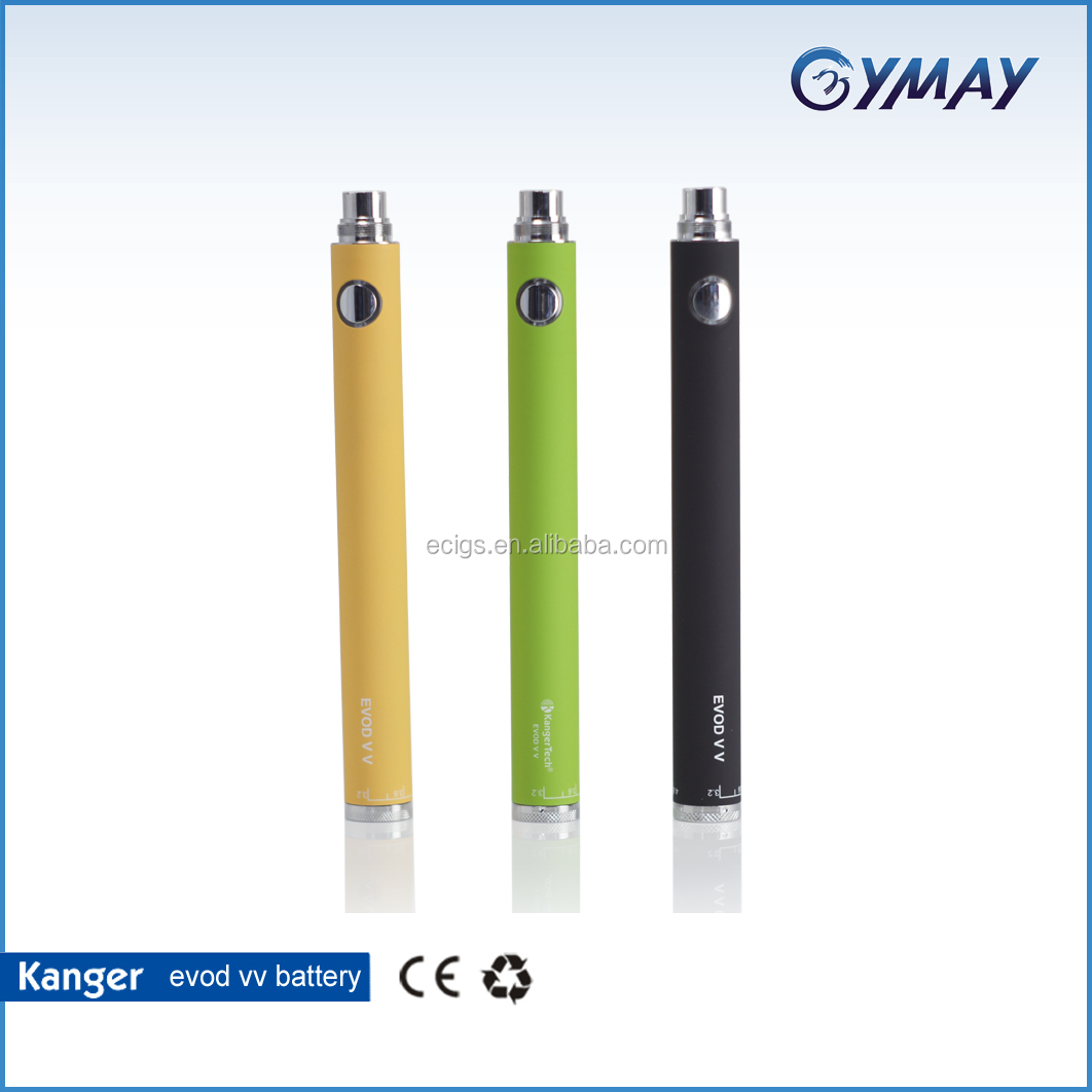 Amazing!!!High performance ecigs kanger evod vv battery kanger evod twist 1300/1600 mah with various colors Stock