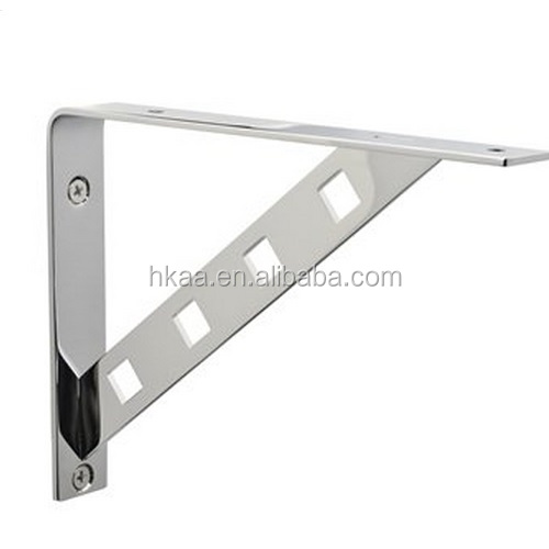 silver shelf bracket, metal cabinet shelf clips, chrome plated sheet metal spring clips