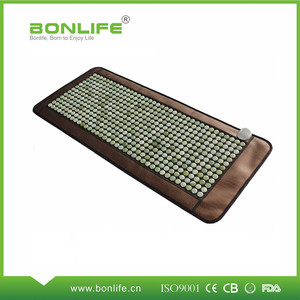 High negative ions and magnetic therapy healing jade mat