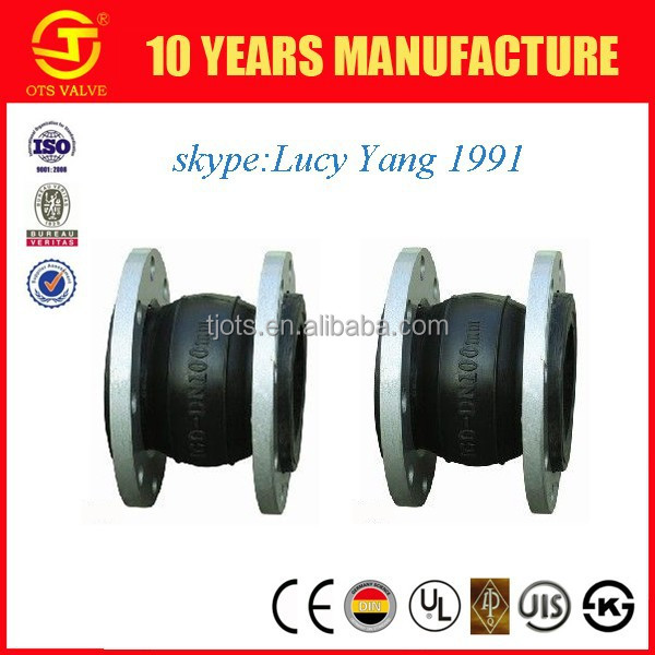 flanged rubber expansion soft joint for pipe system for building