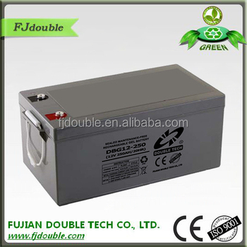 solar battery 12V 250ah gel battery