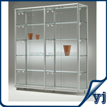 Glazen Wand Vitrinekast.Custom Zeshoek Glazen Schuifdeur Scherm Glazen Wand Vitrine Showcase