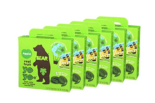 BEAR | Real Fruit Yoyos Snack | Non-GMO | Gluten-Free | All-Natural | Apple | 0.7 Ounce (30 Count)