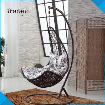 Wicker Patio Furniture Outdoor Indoor Hanging Egg Swing