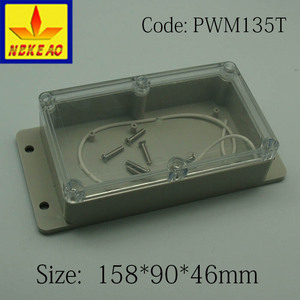 IP65 protection level mounting waterproof junction box with clear lid