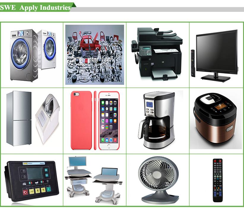Custom logo PP/ABS/PC  hard plastic box small solid crease folding plastic box