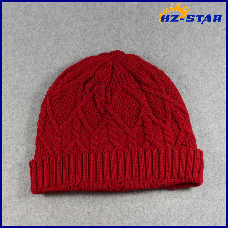 HZM-17018002 Custom crochet teenagers 100% cotton cc beanie knitting winter hat