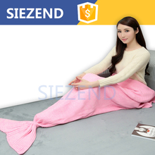 Christmas Watching TV Wearable Mermaid Tail Blanket Knit Pattern