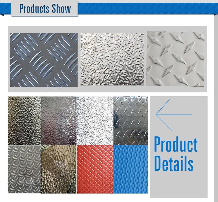 Alloy5052 Tread Plate Aluminum 5 Bar Plate Sheet Roll