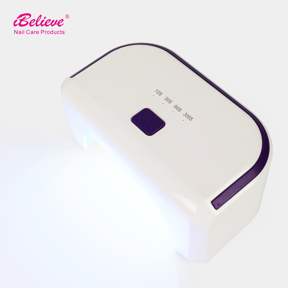 iBelieve New Products Portable 12W g4 LED the Lamp manicure table nail dryer station