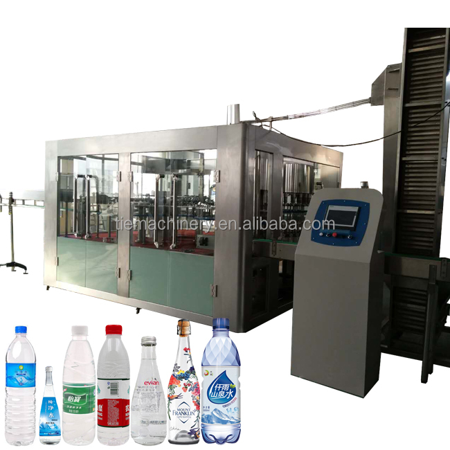 A To Z Automatic Drinking Water Producing Bottling Filling Machine Line
