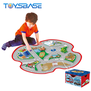 2 In 1 Road Storage Case And Carpet Game Kids Korea Play Mat