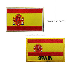 Spain Flag Country Flags Embroidered Patches