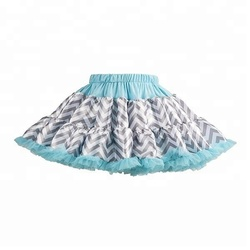 Wholesale stripe tutu pettiskirt chiffon ruffle dress