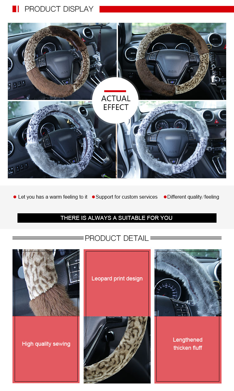 Environmental Tasteless Warm Design Steering Wheel Cover
