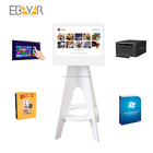 white color ins hashtag printer machine kiosk for printing photo with brand logo to do advertisement