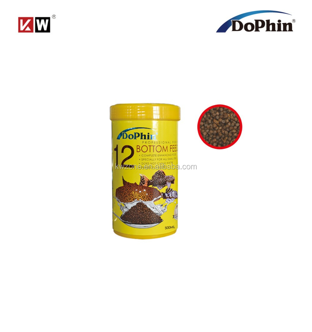 Dophin Fish Food Pellets 500ml (12#) For Aquarium Bottom Feeder ...