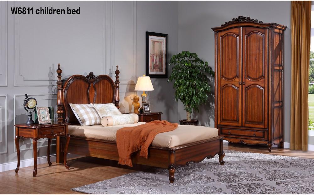 Rococo Bed Kopen : W luxe europese rococo stijl mahonie massief bed royal vier