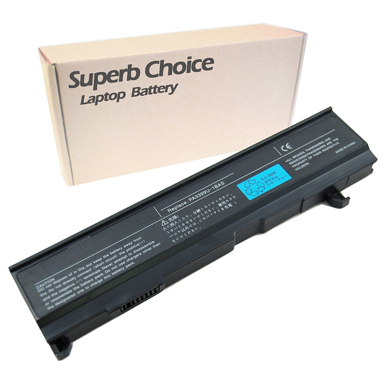 Toshiba PA3399U-2BRS Primary Li-Ion Laptop Battery Laptop Battery - Premium Superb Choice® 6-cell Li-ion battery